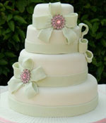 Pink Brooches Cake