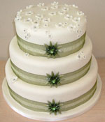 Green enamel Brooch Wedding Cake