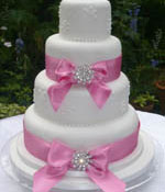 Double Brooch Wedding Cake