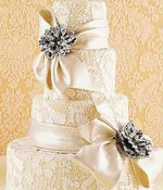 Wedding Cake with Brooches
