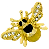 Swarovski Crystal and Gold Plated Small Bee Brooch