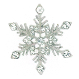 Swarovski Crystal Small Snowflake Brooch Pin