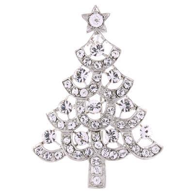 Swarovski Crystal Christmas Tree Brooch Pendant