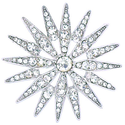 e5761bf83 ... Dazzling Silver and Crystal Starburst Star Brooch ...