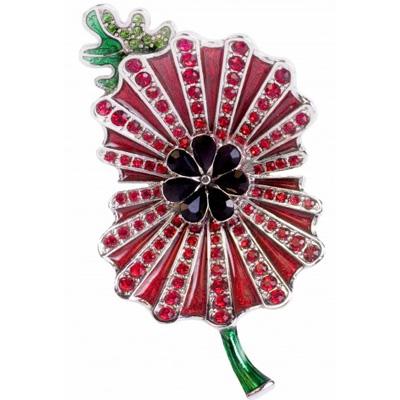 Kleshna Enamel Crystal Royal British Legion Poppy Brooch 2013